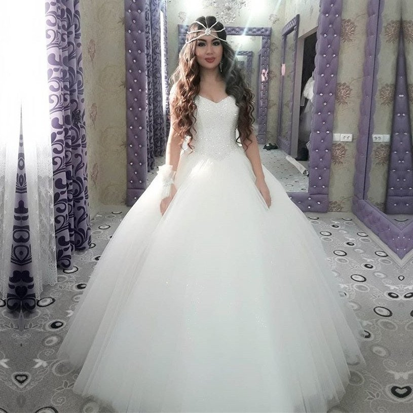 Arabic Ball Gown Sparkly Sweetheart Princess Wedding Dress On Luulla