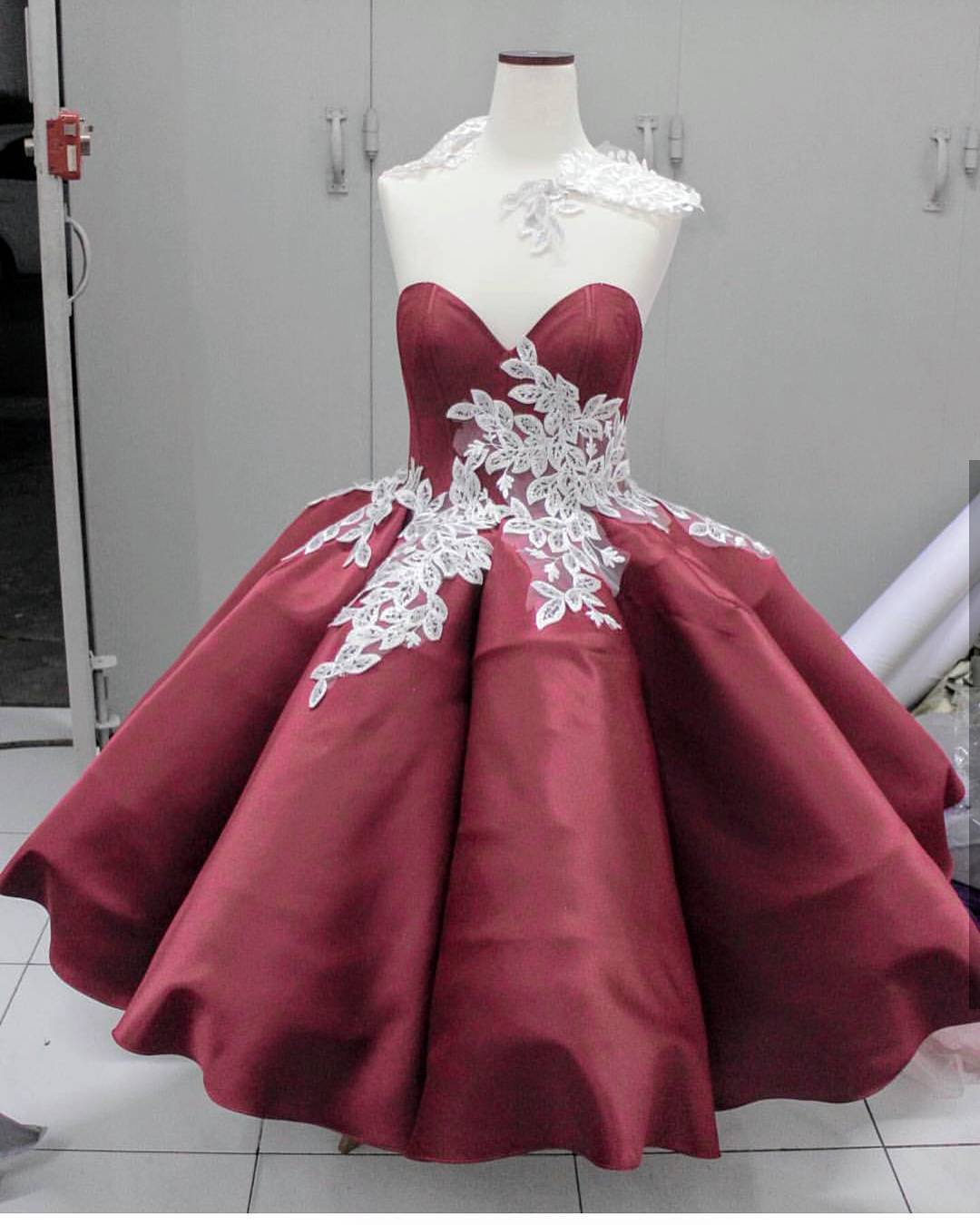 lace short ball gown prom dresses