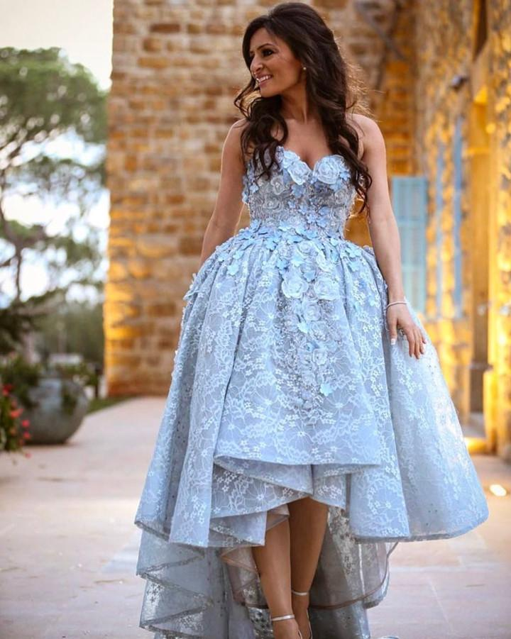 6e9956bcd Amazing Gray Lace Sweetheart High Low Prom Dresses Long 2019 on Luulla