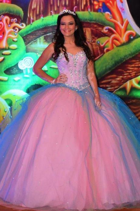 Charming Pink Quinceanera Dresses Lace Up Sleeveless Off the Shoulder Floor-Length Party Gowns with Crystals Princess Quinceanera Sweet 16 Dress