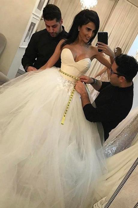 Concise Sweetheart Ball Gown Princess Wedding Dress Bridal Gowns