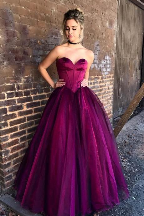 Sexy Sweetheart Bodice Corset Floor Length Ball Gowns Prom Dresses