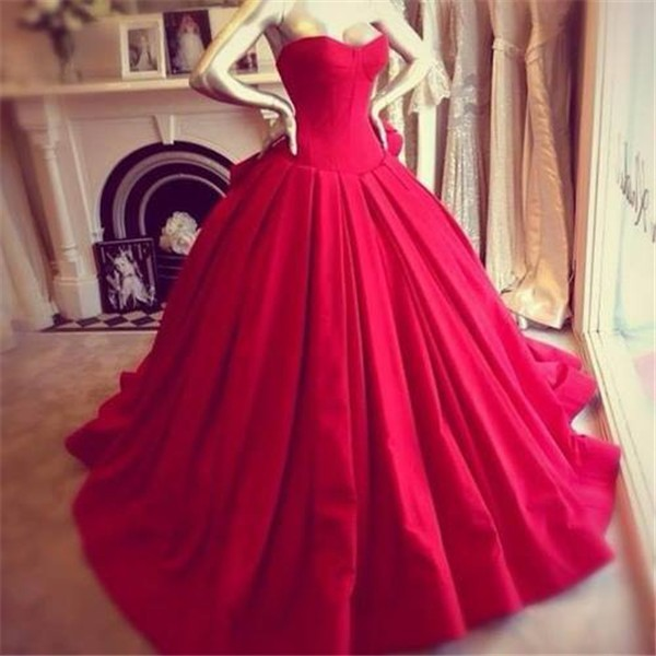 Red Ball Gown Prom Dress with Bow Off-Shoulder Satin Wedding Party Gowns Puffy Vestido De Formatura Plus Size Prom Dresses